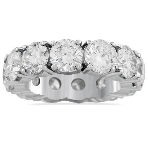Diamond Eternity Band in 18k White Gold 14.20 Ctw