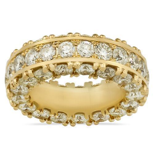 Diamond Eternity Ring in 14k Yellow Gold 11.50 Ctw