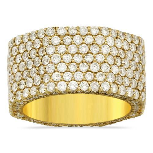 Diamond Pave Eternity Ring in 14k Yellow Gold 3.75 Ctw