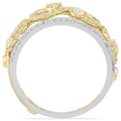 Two Tone Eternity Ring in 14k Gold 0.84 Ctw