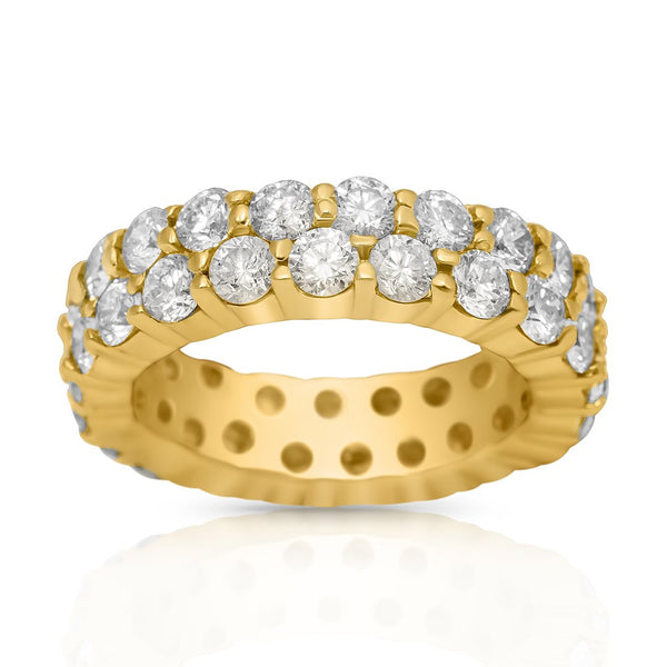 Diamond Eternity Band in 14k Yellow Gold 4.04 Ctw