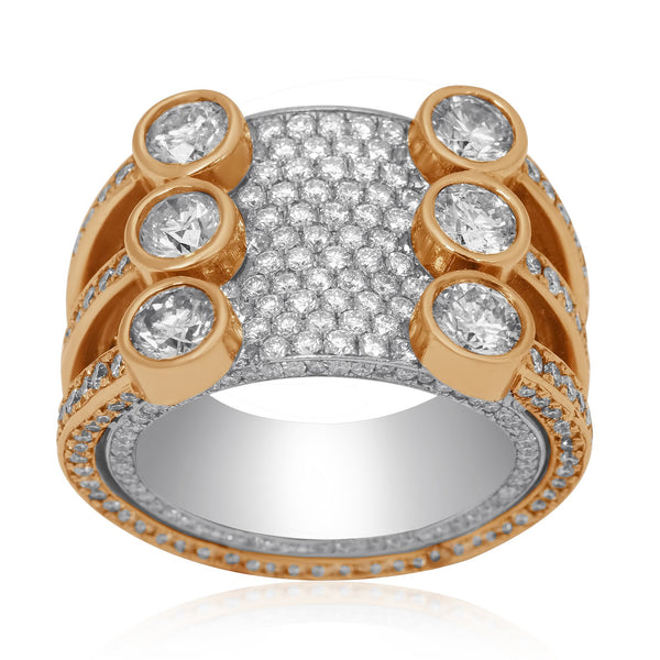 Majestic Diamond Eternity Band in 14k Yellow Gold 4.04 Ctw