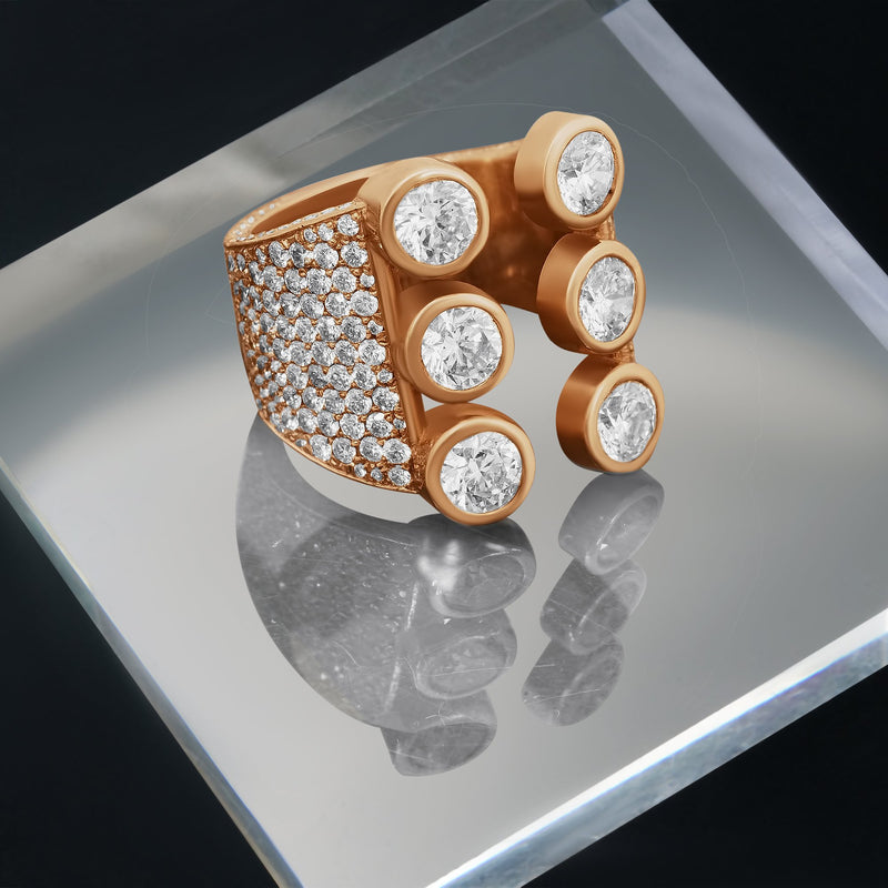 Majestic Diamond Eternity Band in 14k Yellow Gold 4.48 Ctw