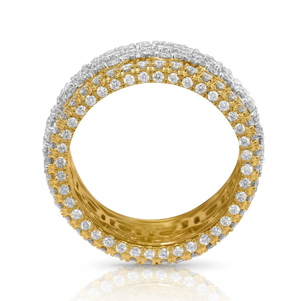 Sophisticated Diamond Eternity Band in 14k Yellow Gold 4.57 Ctw