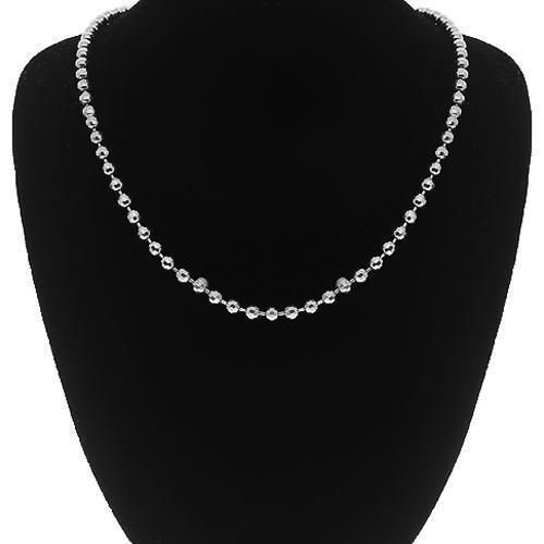 10K White Gold Ball Bead Chain 3 mm