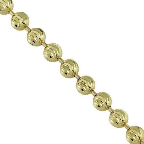 10K Yellow Gold Ball Bead Chain 4 mm