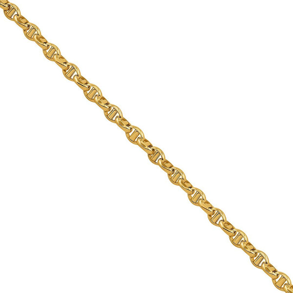 10K Yellow Gold Concave Anchor Link Chain 4.5 mm