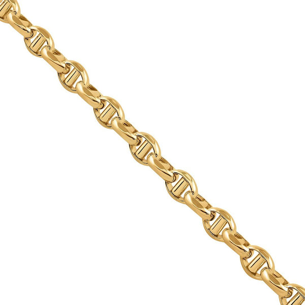 10K Yellow Gold Concave Anchor Link Chain 5 mm