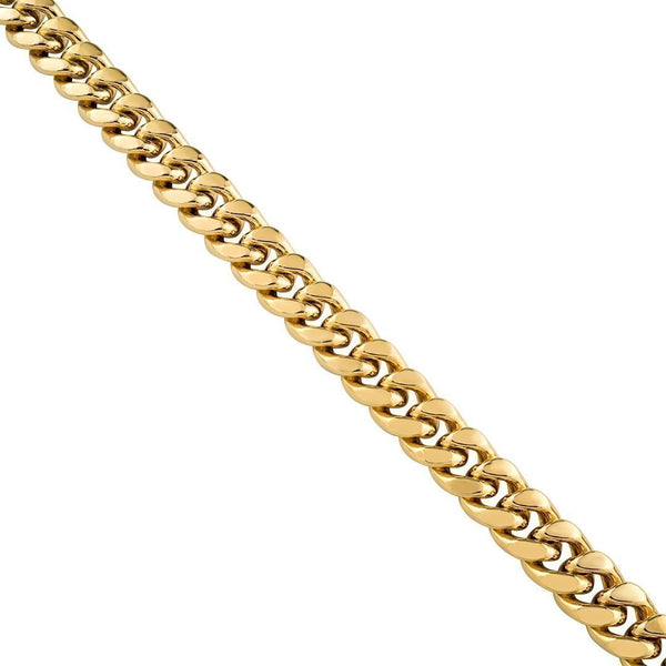 10k Yellow Gold Cuban Link Chain 12 mm