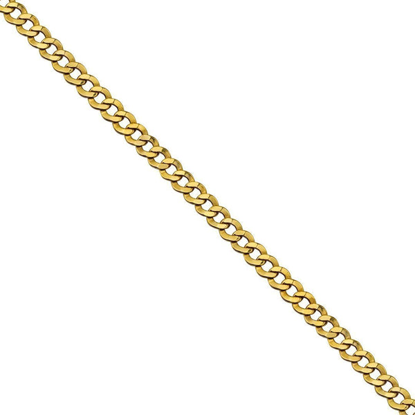 10k Yellow Gold Curb Link Chain 7.5 mm