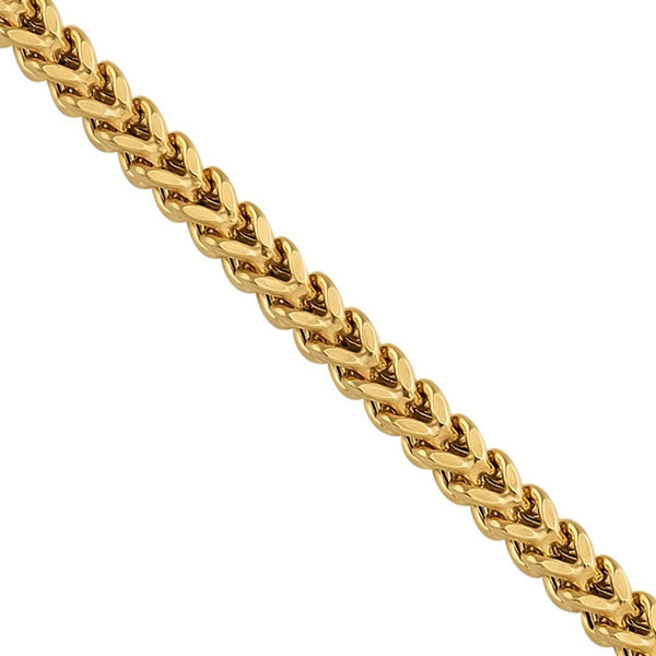 10K Yellow Gold Franco Link Chain 3 mm