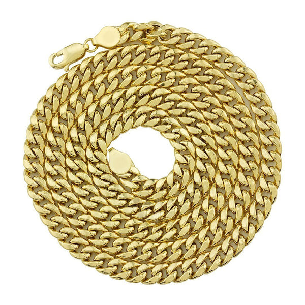 10k Yellow Gold Hollow Cuban Link Chain 5.5 mm