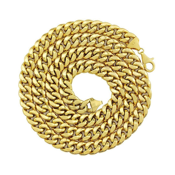 10k Yellow Gold Hollow Cuban Link Chain 9.5 mm