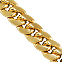 10k Yellow Gold Miami Cuban Chain 13.5 mm