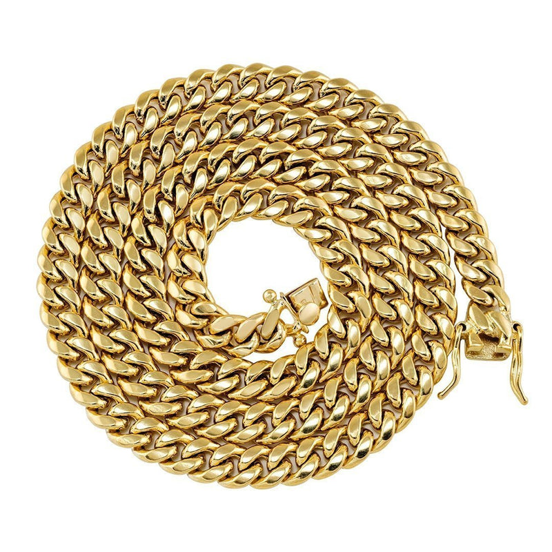 10k Yellow Gold Miami Cuban Chain 7.5 mm
