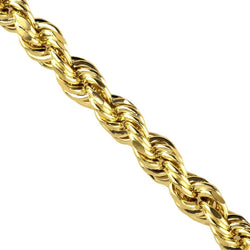 10k Yellow Gold Rope Chain 26 Inches 7.5 mm