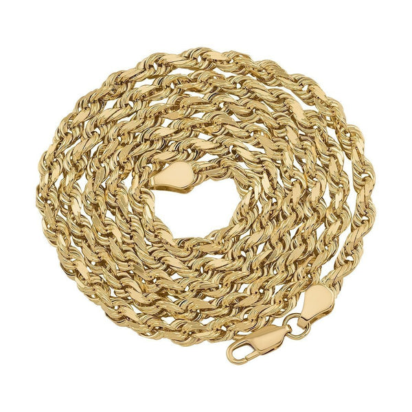 10k Yellow Gold Rope Chain 3.5 mm