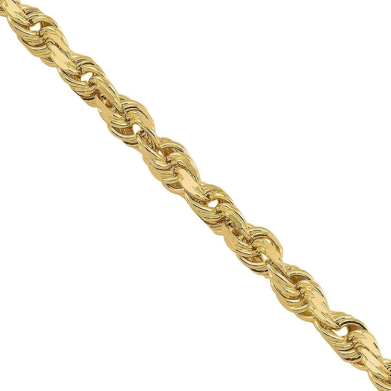 10k Yellow Gold Rope Chain 4 mm
