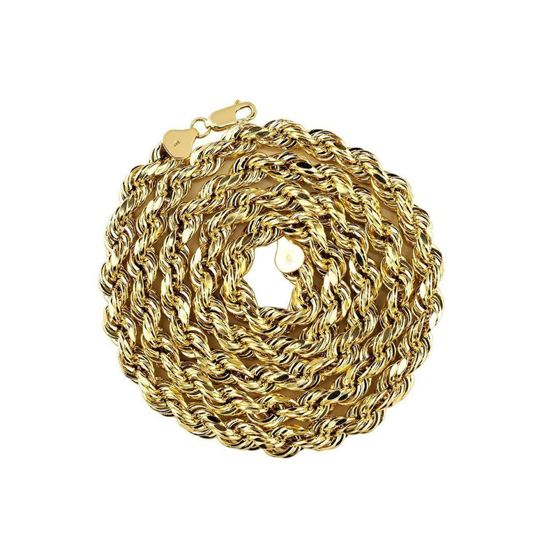 10k Yellow Gold Rope Chain 5.5 mm