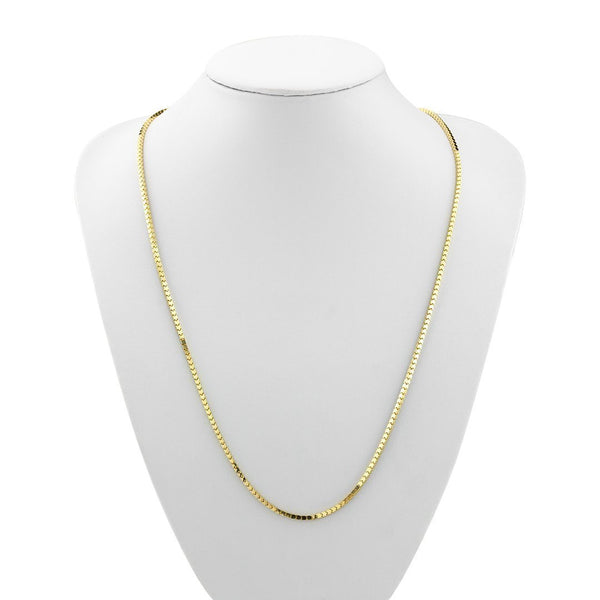 10k Yellow Gold Semi-Solid Chain 2 mm