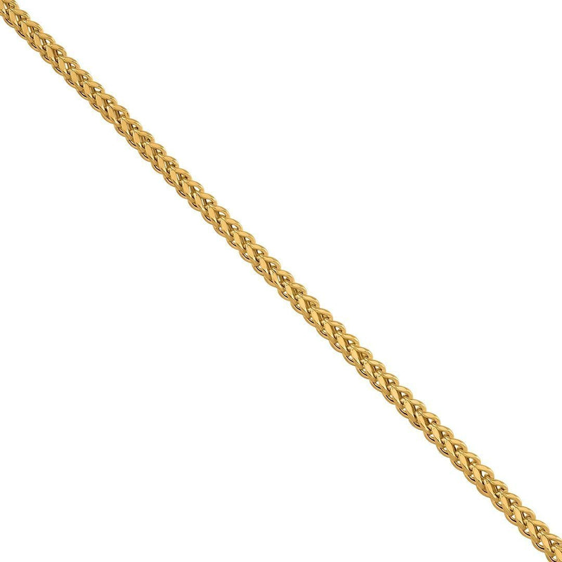 10K Yellow Solid Gold Mens Franco Chain 2.75 mm