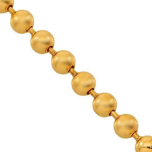 14K Rose Gold Mens Ball Bead Chain 4 mm