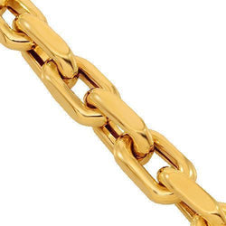 14K Solid Yellow Gold Fancy Chain 4 mm