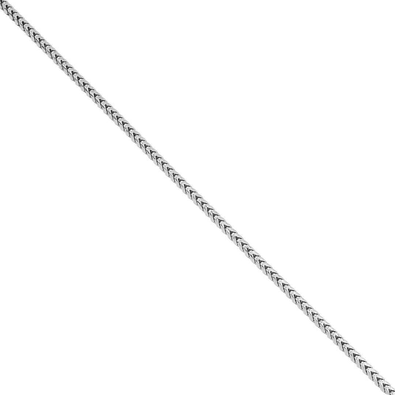 14K White Gold Mens Franco Chain 3 mm
