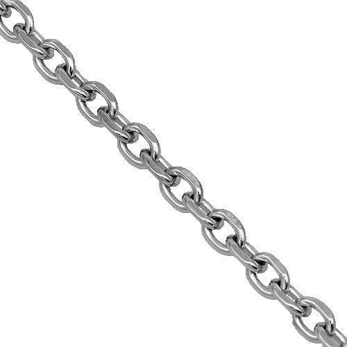 14K White Gold Womens Fancy Chain 2 mm