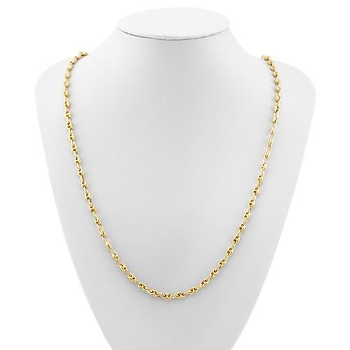 14k Yellow Gold Anchor Puffed Chain 5 mm