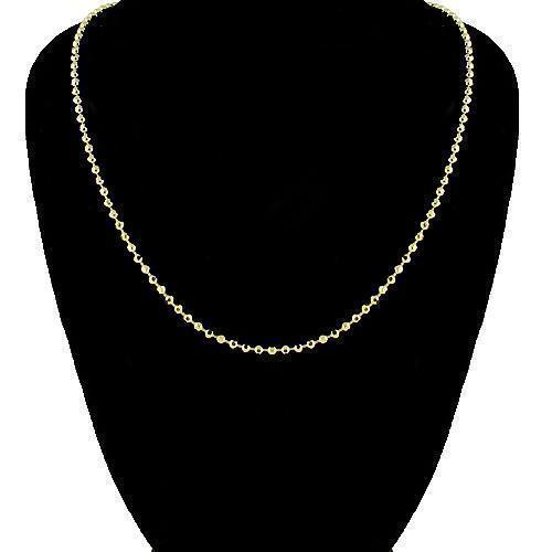 14K Yellow Gold Ball Bead Chain 2 mm