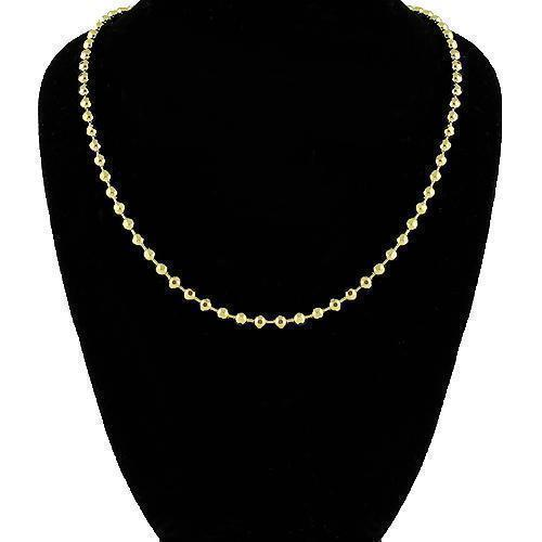 14K Yellow Gold Ball Bead Chain 3 mm