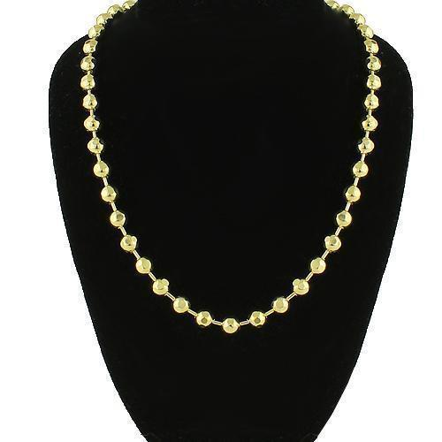 14K Yellow Gold Ball Bead Chain 5 mm
