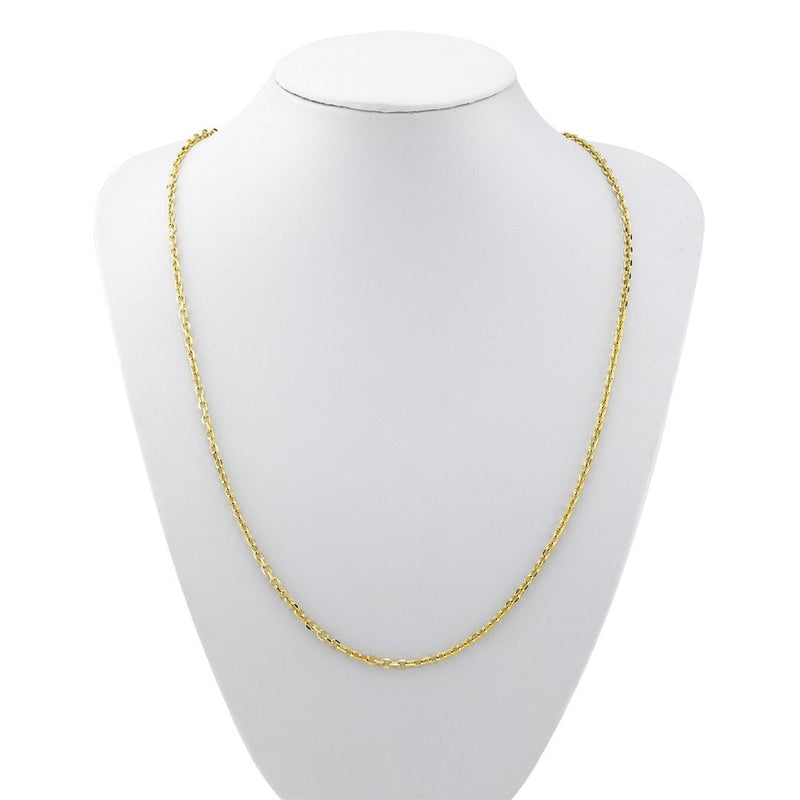 14k Yellow Gold Cable Chain 3 mm