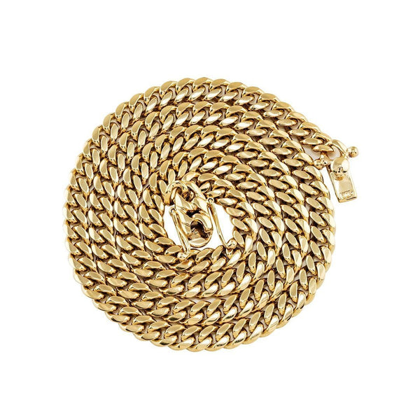 14k Yellow Gold Cuban Chain 7 mm