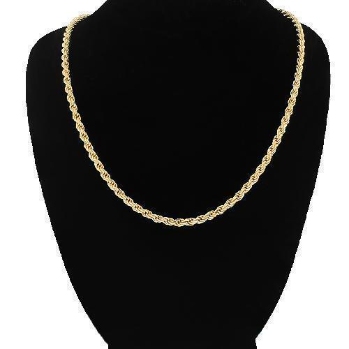 14K Yellow Gold Fancy Chain 3 mm