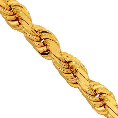 14K Yellow Gold Fancy Chain 5 mm