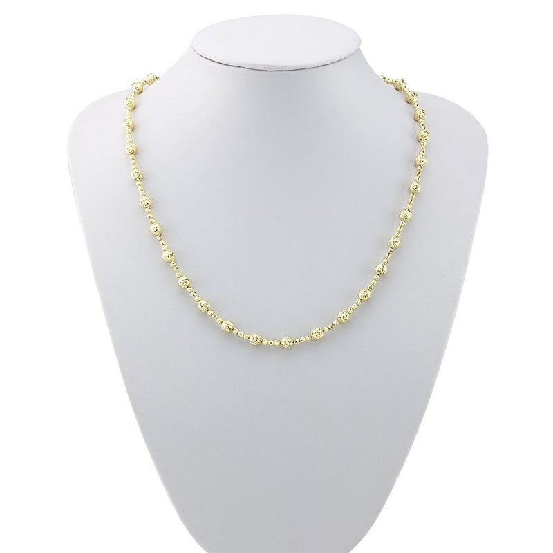 14k Yellow Gold Fancy Chain 6 mm
