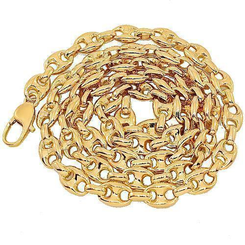 14K Yellow Gold Fancy Chain 7 mm