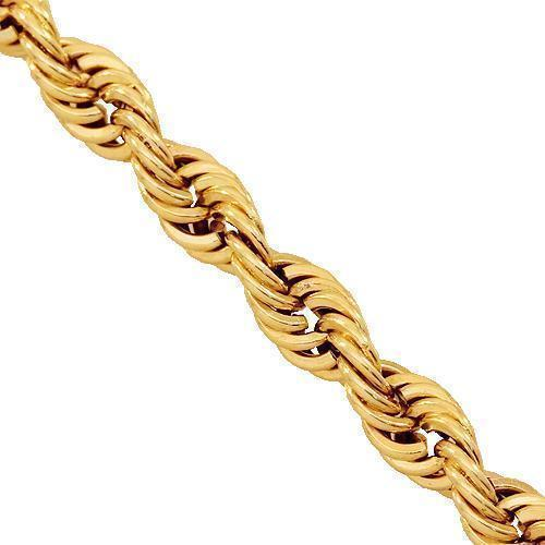 14K Yellow Gold Fancy Rope Chain 4 mm