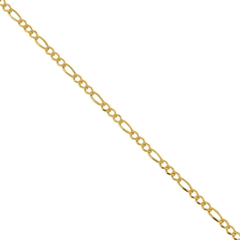14k Yellow Gold Figaro Link Chain 2.5 mm