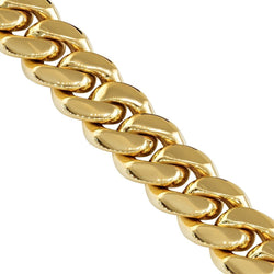 14k Yellow Gold Miami Cuban Link Chain 10 mm