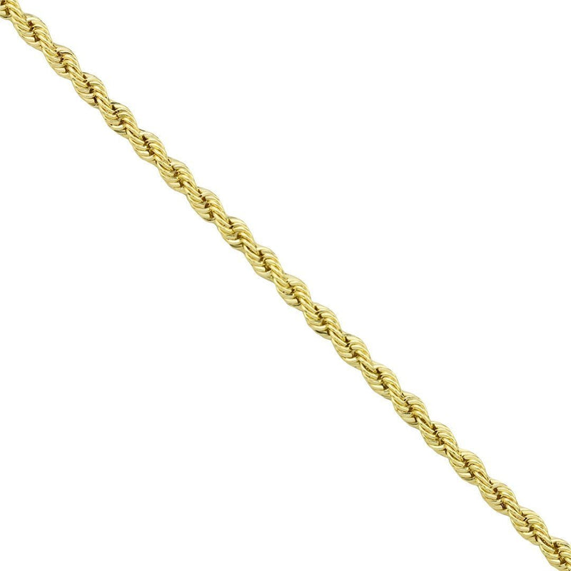 14k Yellow Gold Rope Chain 3.5 mm