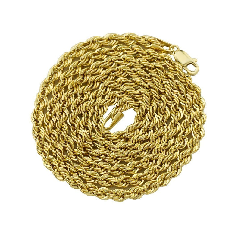 14k Yellow Gold Rope Chain 4 mm
