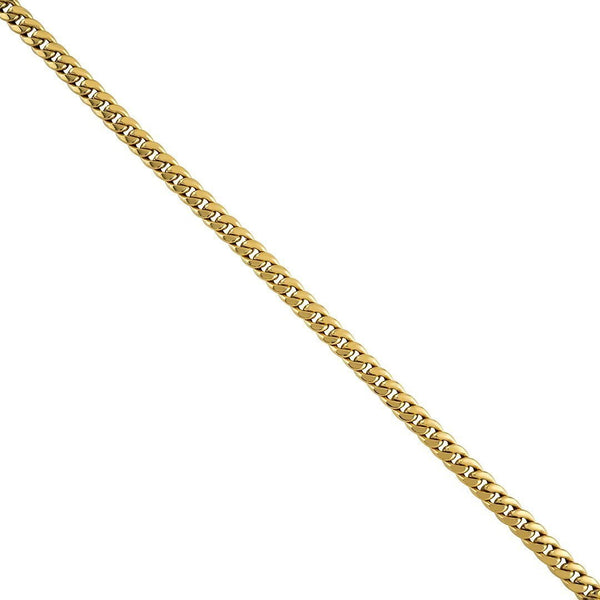 14k Yellow Hollow Gold Cuban Link Chain 5.5 mm