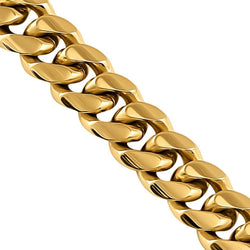 14k Yellow Solid Gold Miami Cuban Chain 9 mm