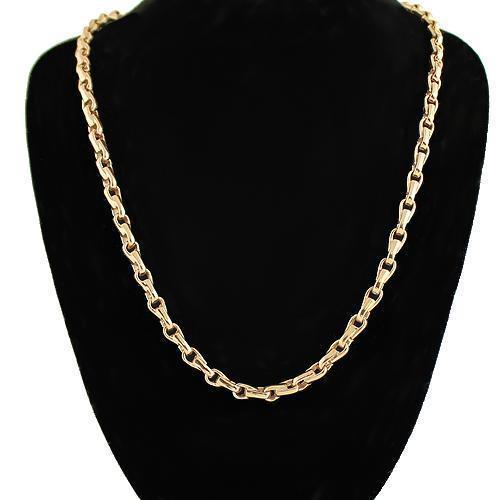 18K Rose Solid Gold Mens Fancy Chain 3 mm