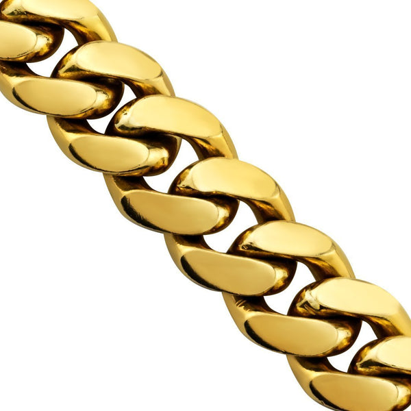 18k Yellow Gold Cuban Link Chain 15.5 mm