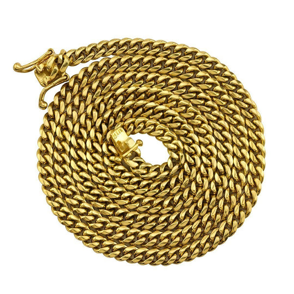 18k Yellow Gold Cuban Link Chain 4.5 mm
