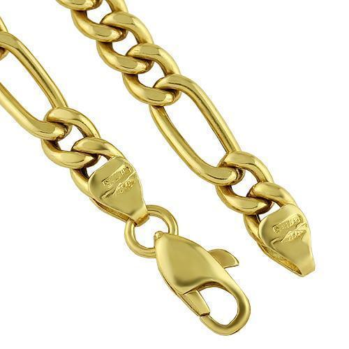 18K Yellow Gold Custom Fancy Made Chain 5.5 mm